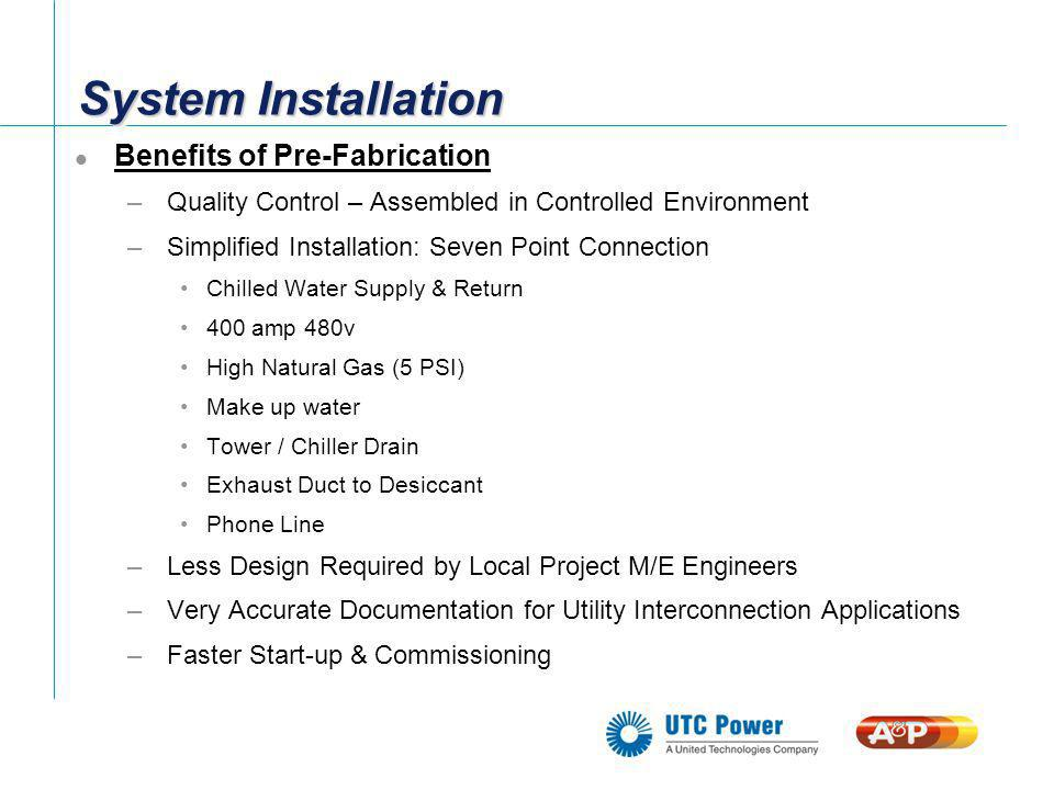 System Installation Benefits of Pre-Fabrication