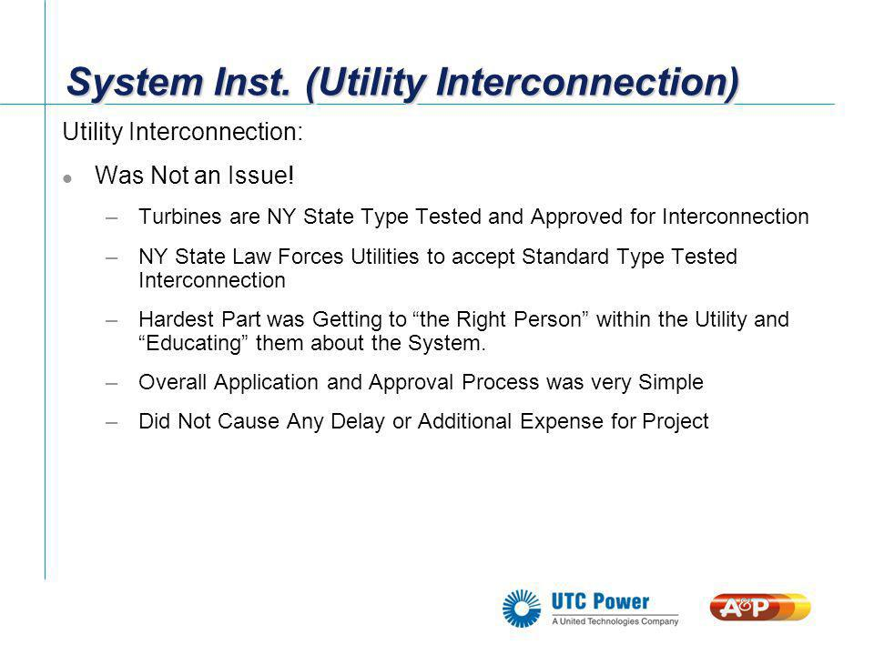 System Inst. (Utility Interconnection)