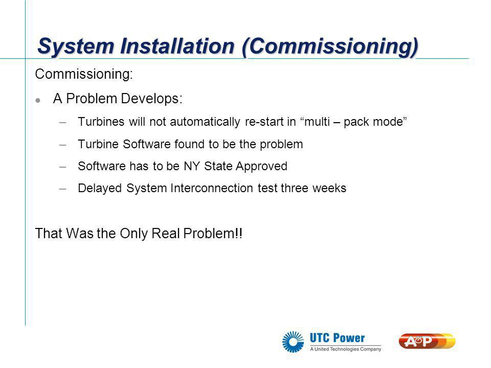 System Installation (Commissioning)