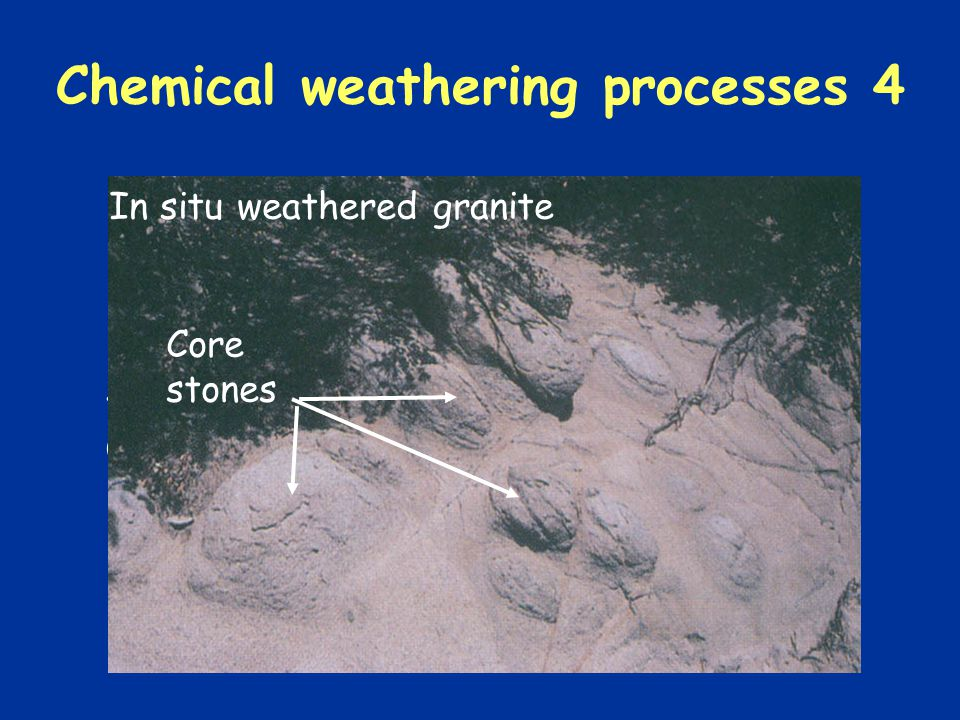 Chemical weathering processes 4