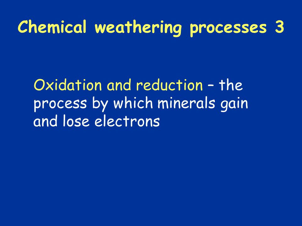 Chemical weathering processes 3