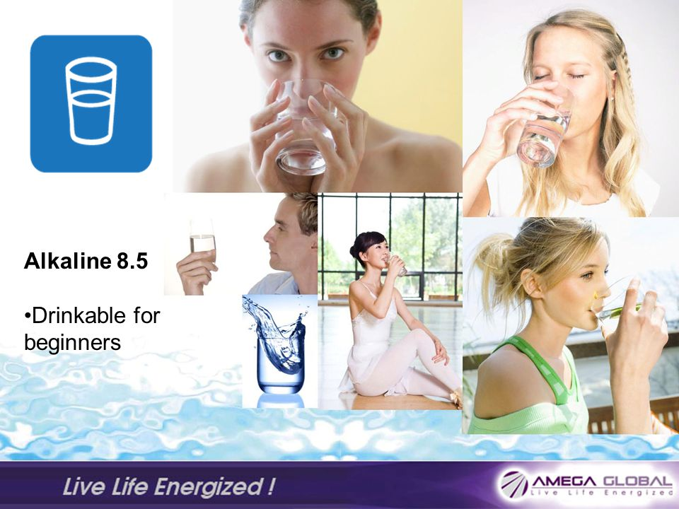 Alkaline 8.5 Drinkable for beginners