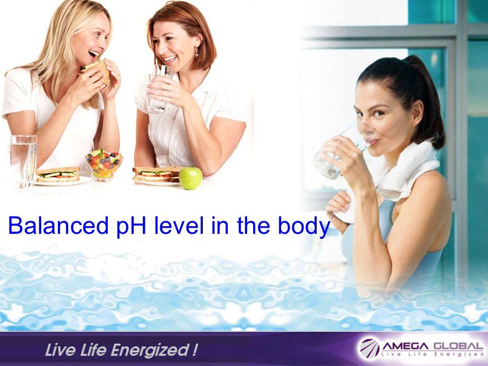 Balanced pH level in the body