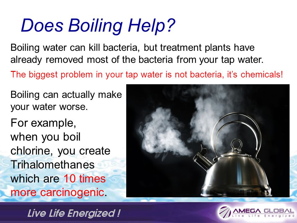 Does Boiling Help For example, when you boil chlorine, you create