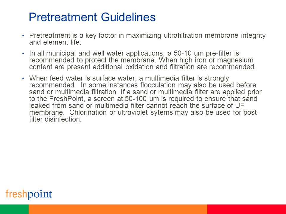Pretreatment Guidelines