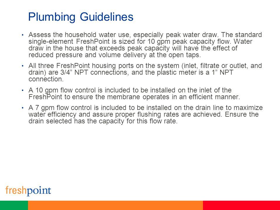 Plumbing Guidelines