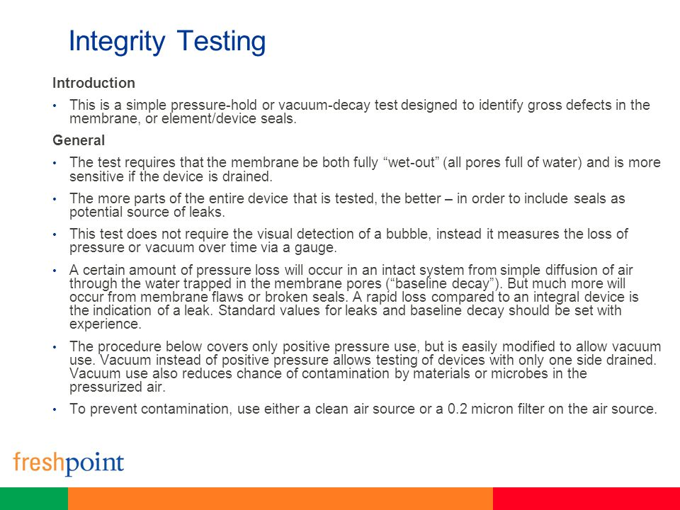 Integrity Testing Introduction