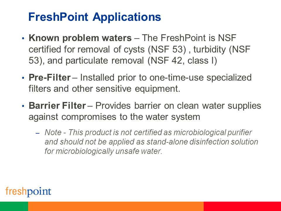 FreshPoint Applications