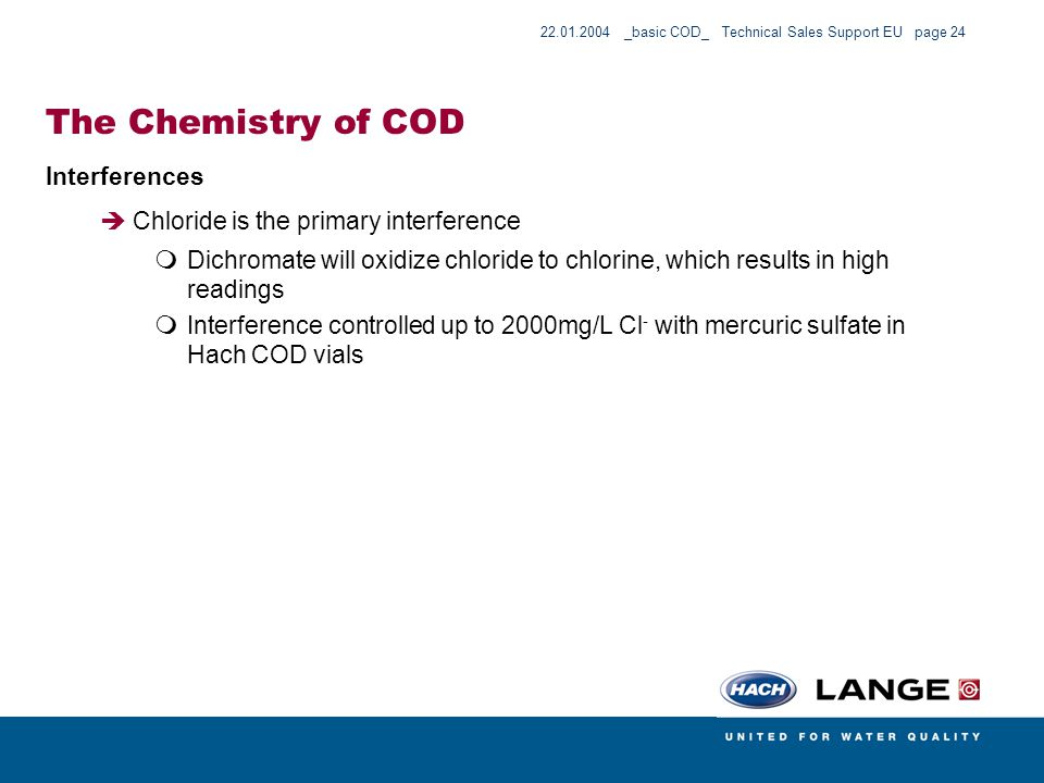 The Chemistry of COD Interferences