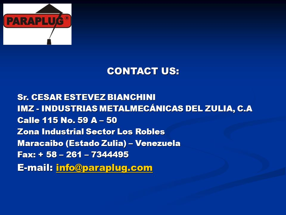 E-mail: info@paraplug.com