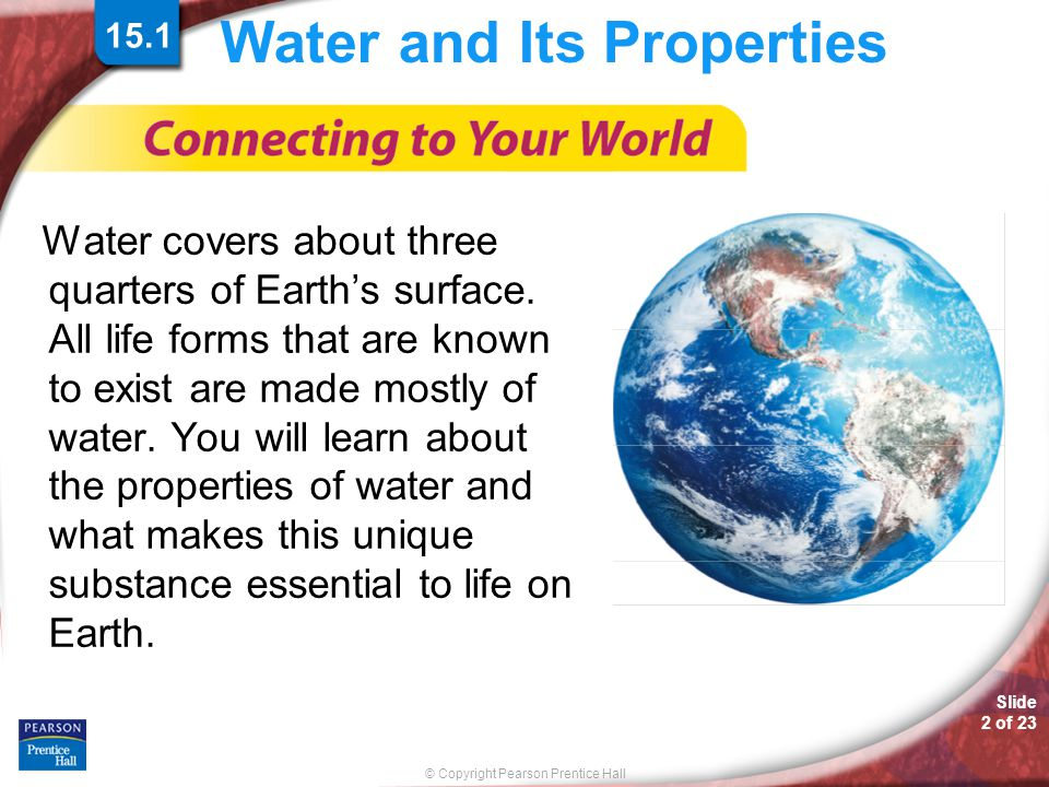 Water and Its Properties