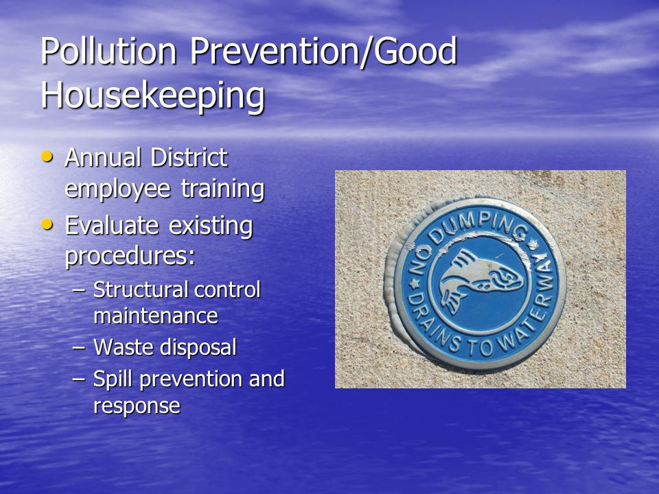 Pollution Prevention/Good Housekeeping