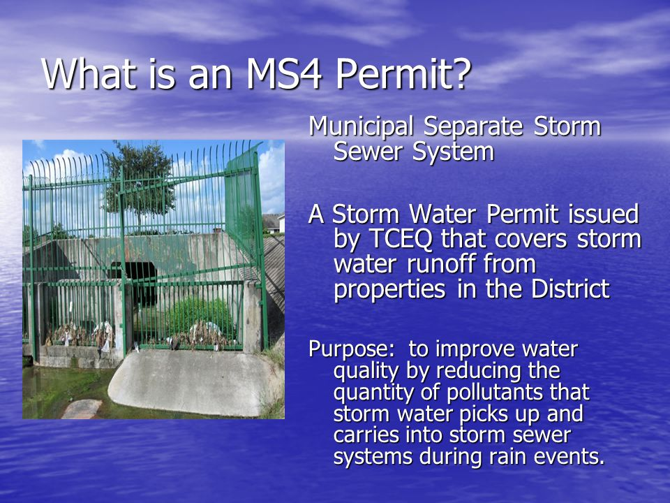 What is an MS4 Permit Municipal Separate Storm Sewer System