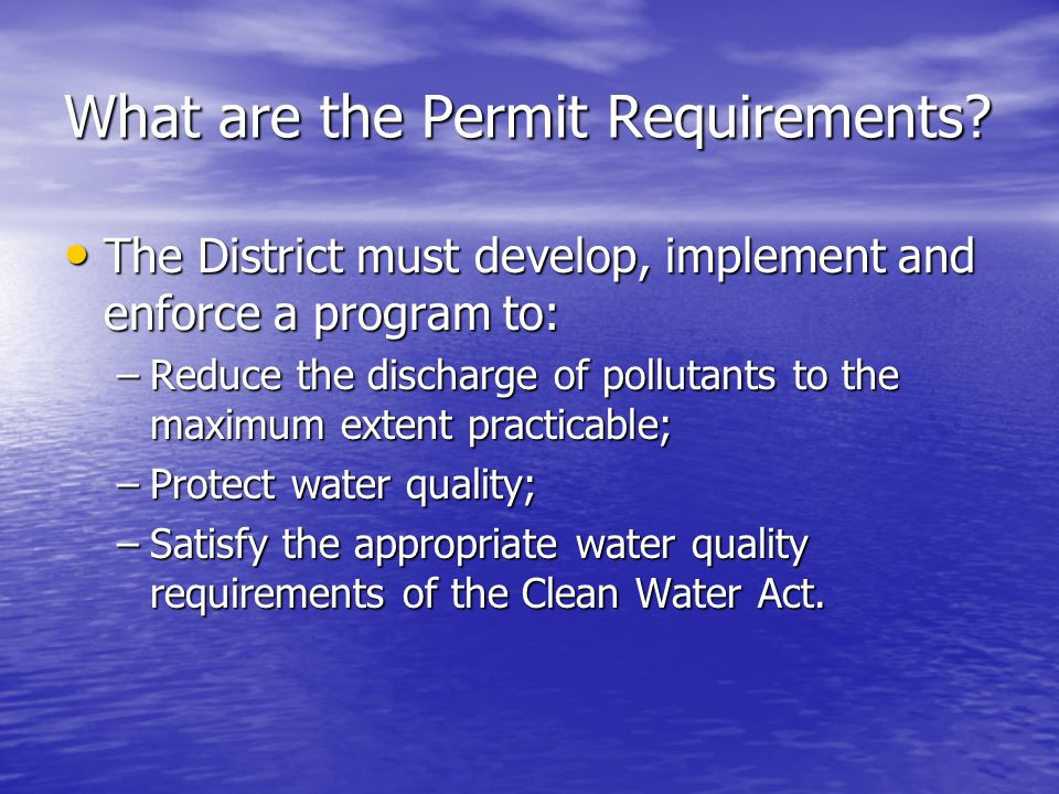 What are the Permit Requirements