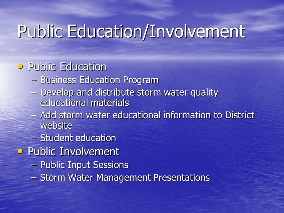 Public Education/Involvement