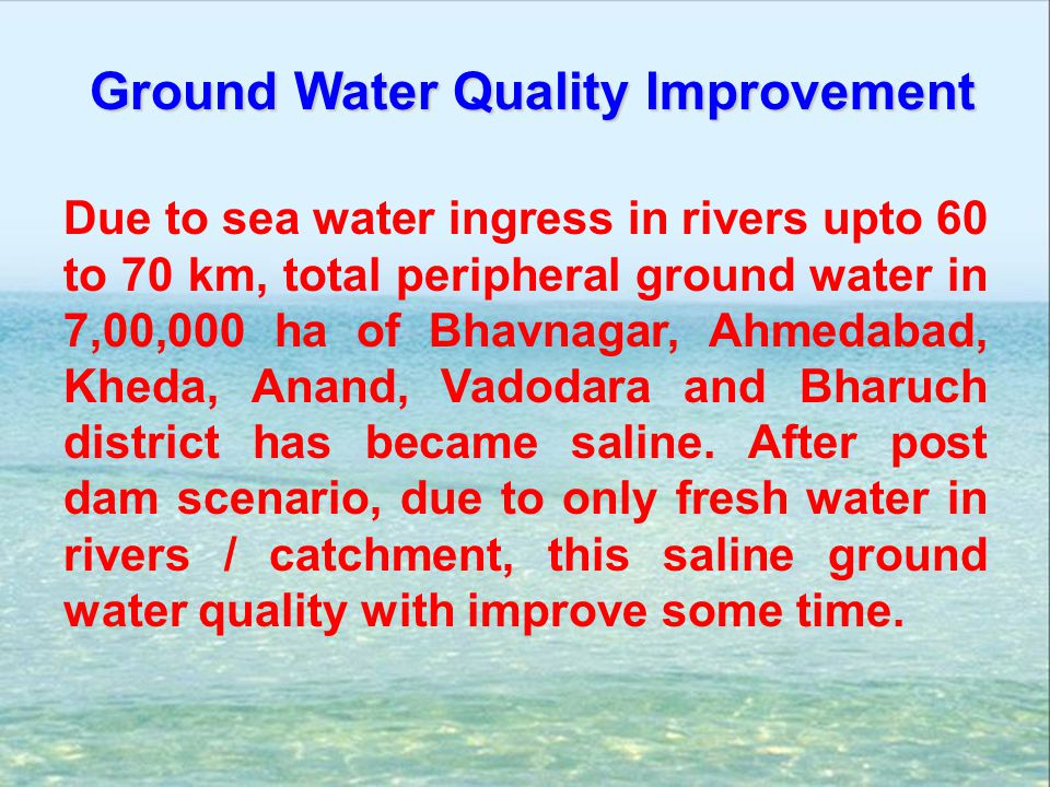 Ground Water Quality Improvement