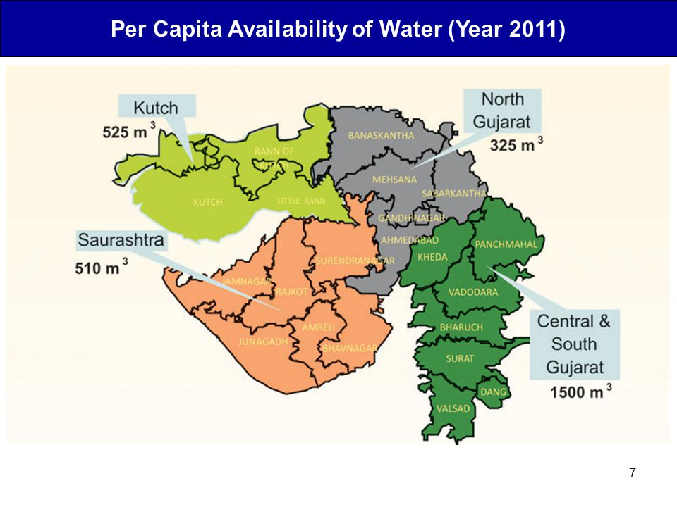 Per Capita Availability of Water (Year 2011)
