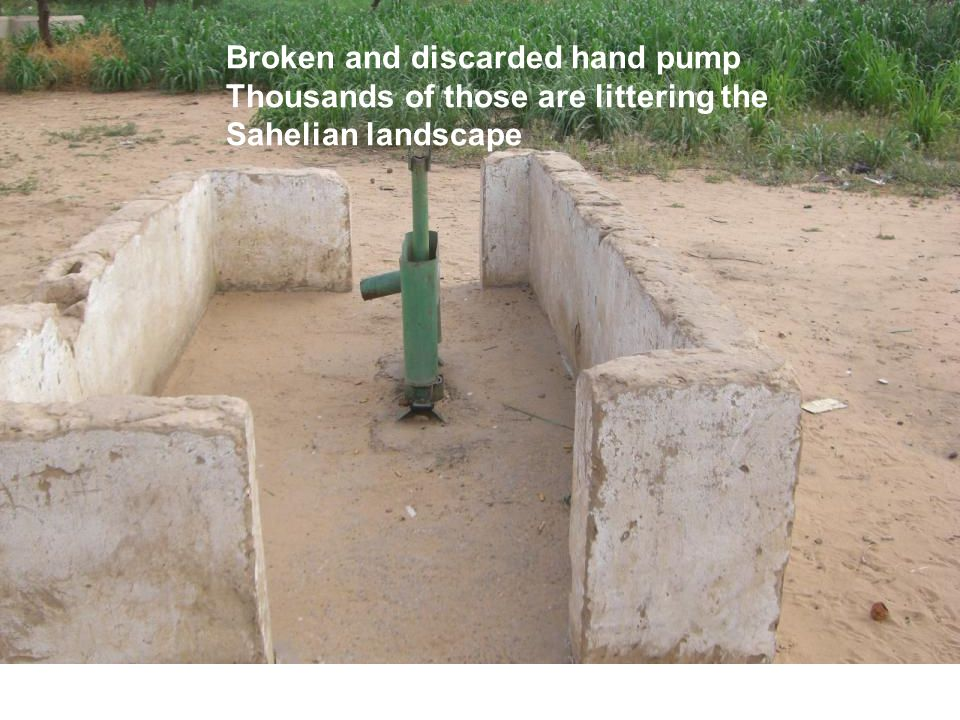 Broken and discarded hand pump