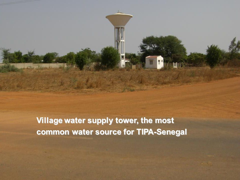 Village water supply tower, the most