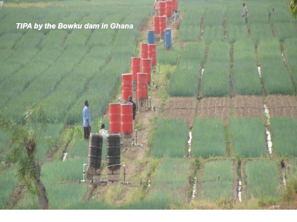 TIPA by the Bowku dam in Ghana