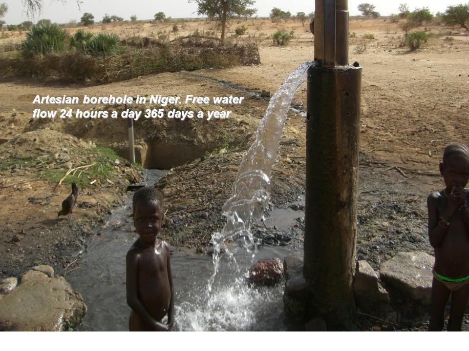 Artesian borehole in Niger