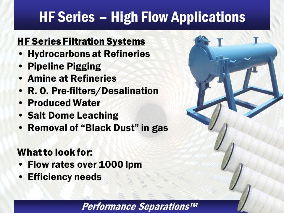 HF Series – High Flow Applications