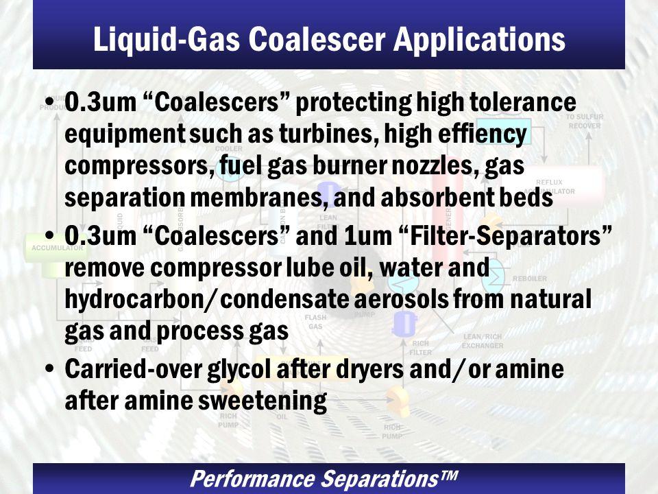 Liquid-Gas Coalescer Applications