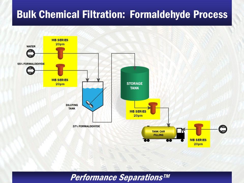 Bulk Chemical Filtration: Formaldehyde Process