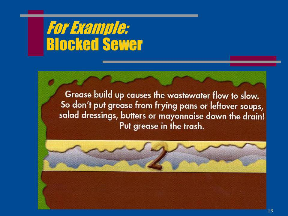For Example: Blocked Sewer