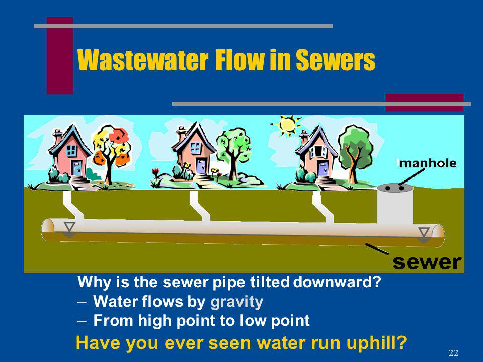Wastewater Flow in Sewers