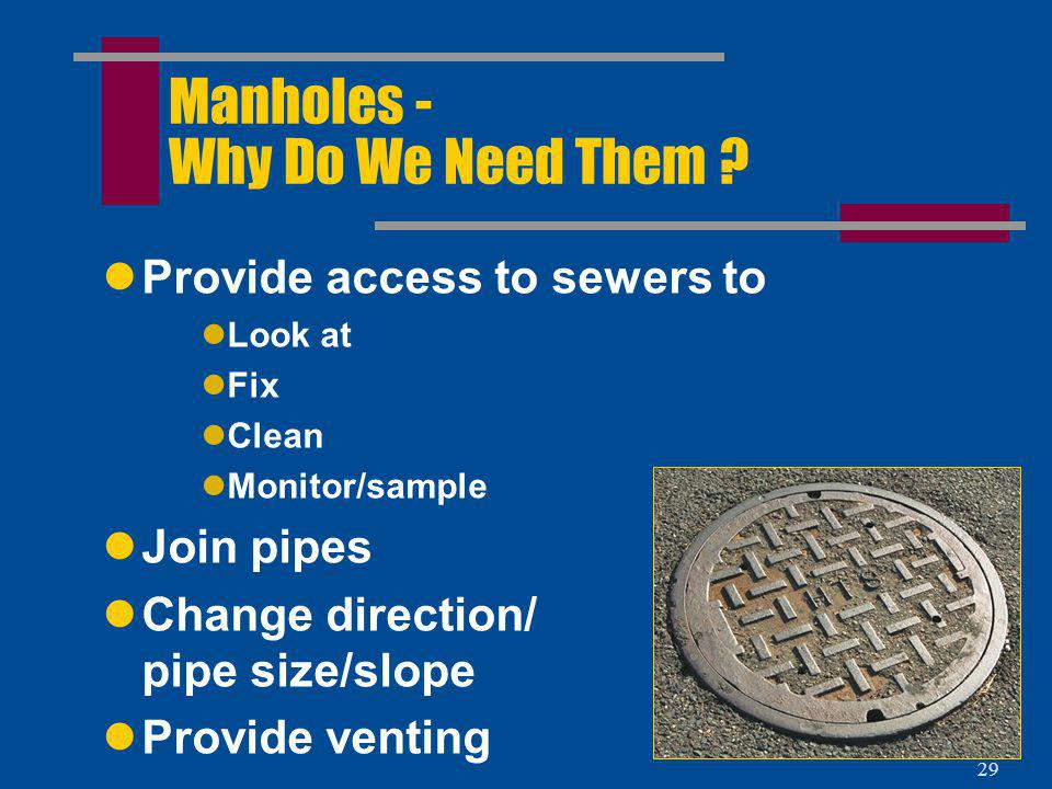 Manholes - Why Do We Need Them