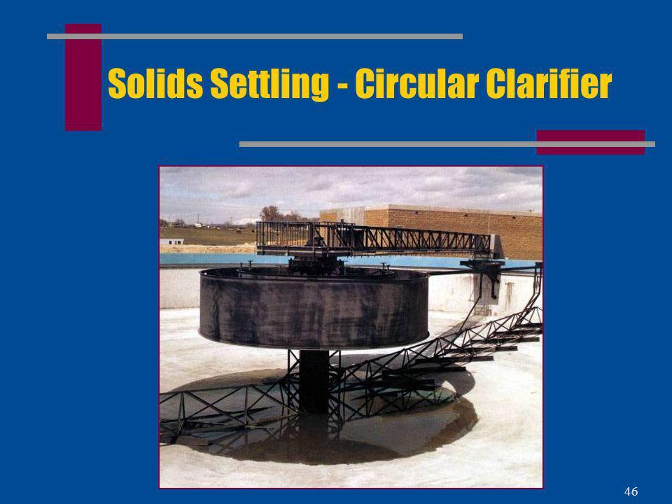 Solids Settling - Circular Clarifier