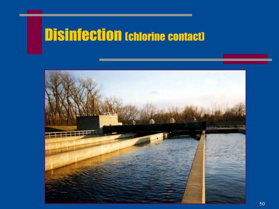 Disinfection (chlorine contact)