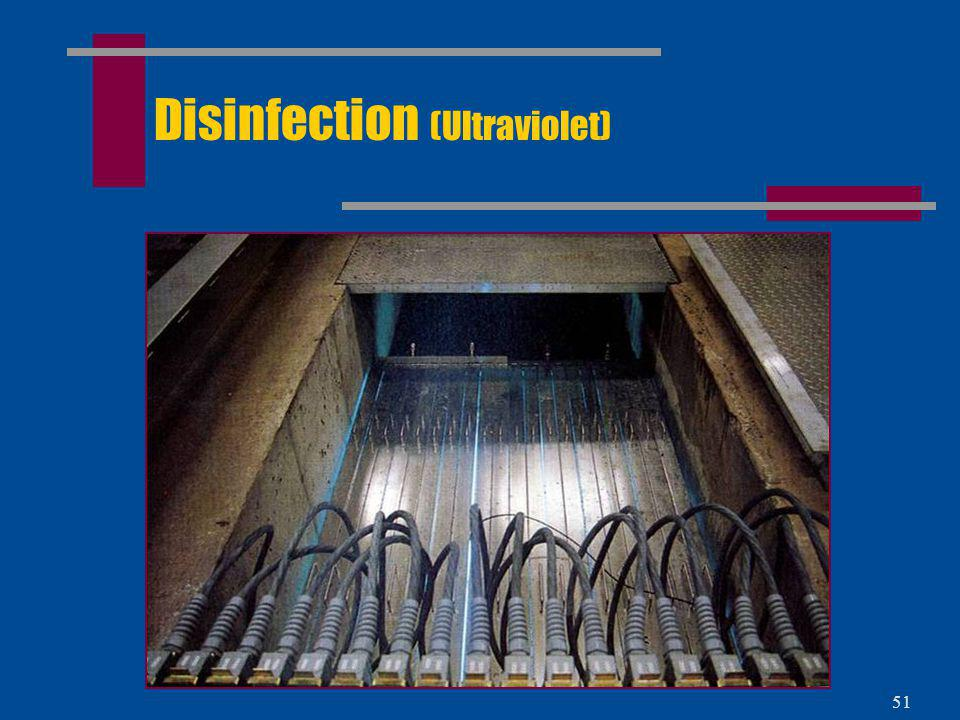 Disinfection (Ultraviolet)