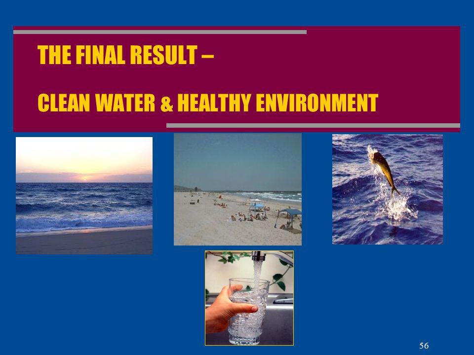 THE FINAL RESULT – CLEAN WATER & HEALTHY ENVIRONMENT