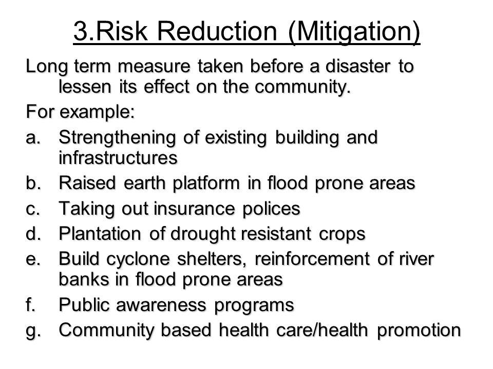3.Risk Reduction (Mitigation)