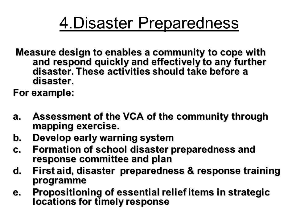 4.Disaster Preparedness