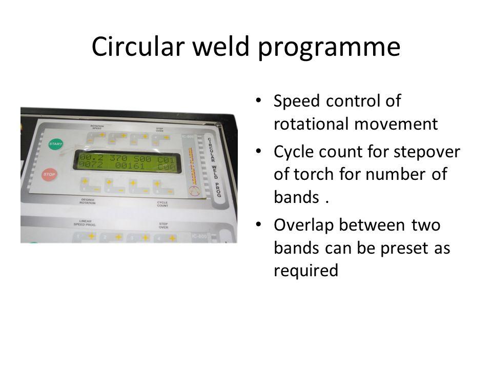 Circular weld programme