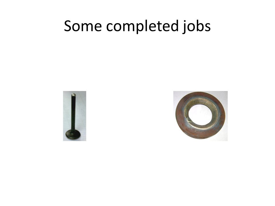 Some completed jobs