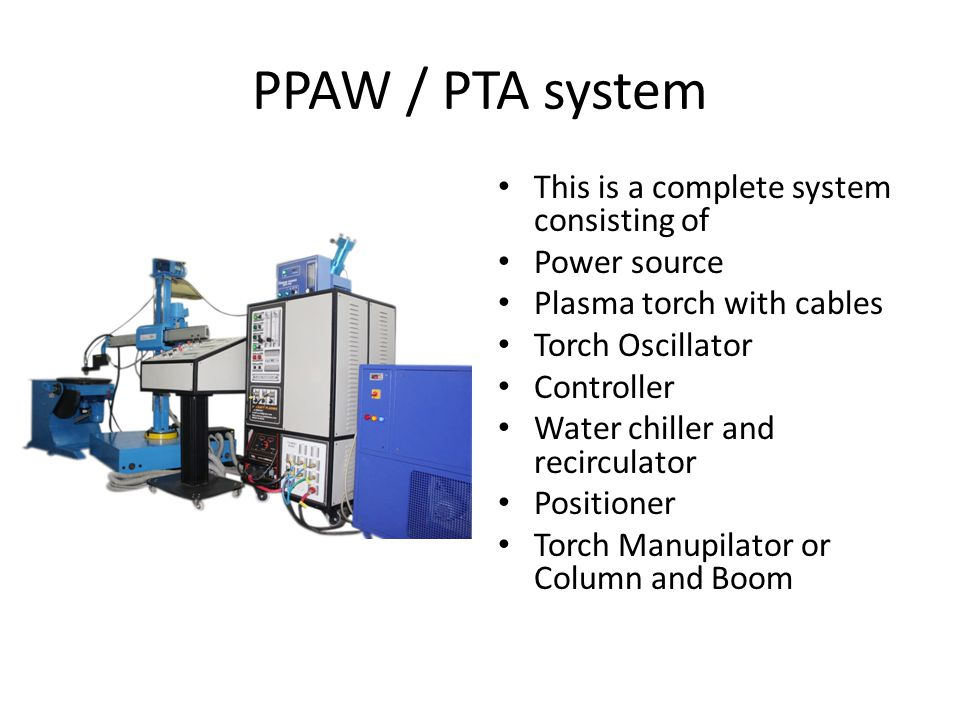 PPAW / PTA system This is a complete system consisting of Power source