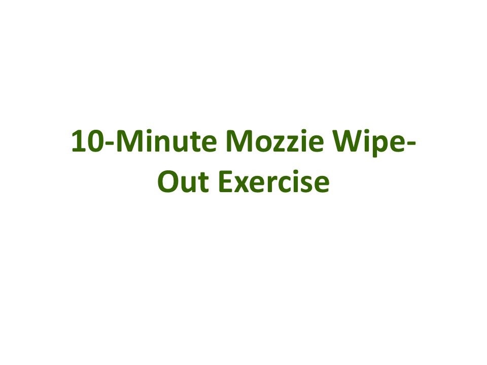 10-Minute Mozzie Wipe-Out Exercise