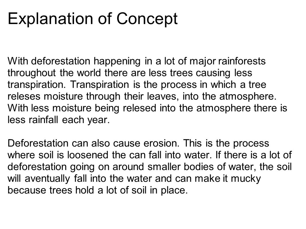 Explanation of Concept