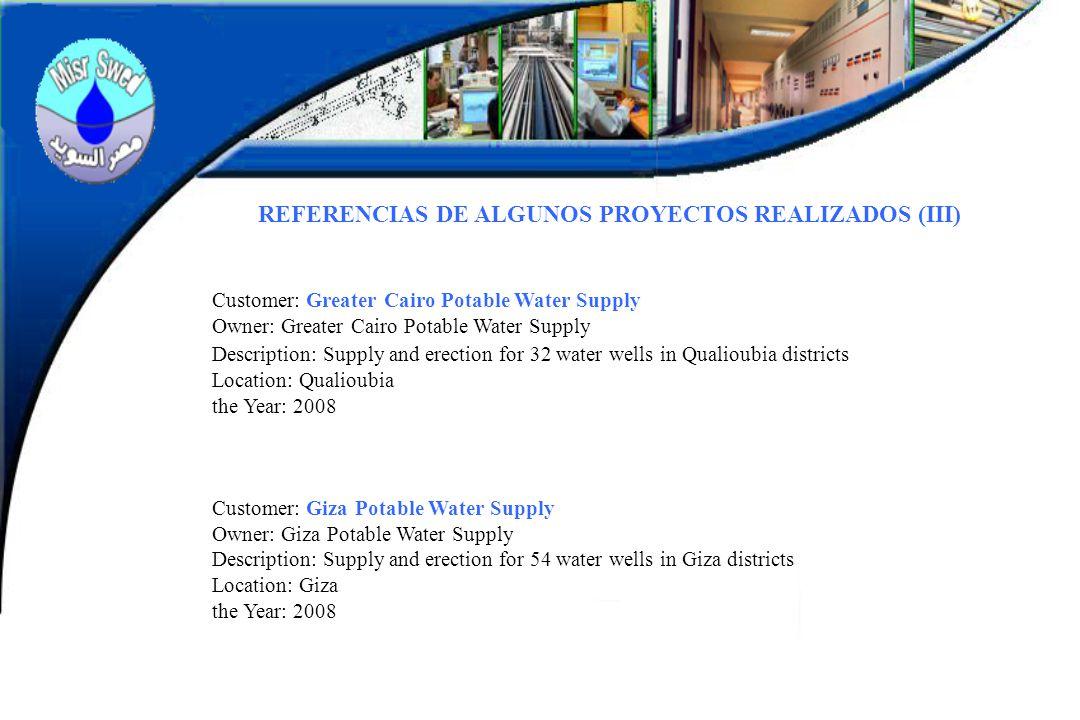 REFERENCIAS DE ALGUNOS PROYECTOS REALIZADOS (III)