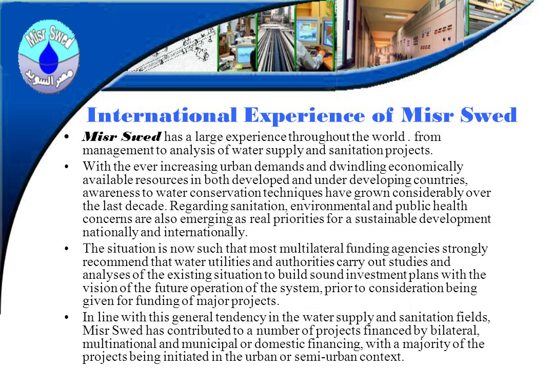 International Experience of Misr Swed