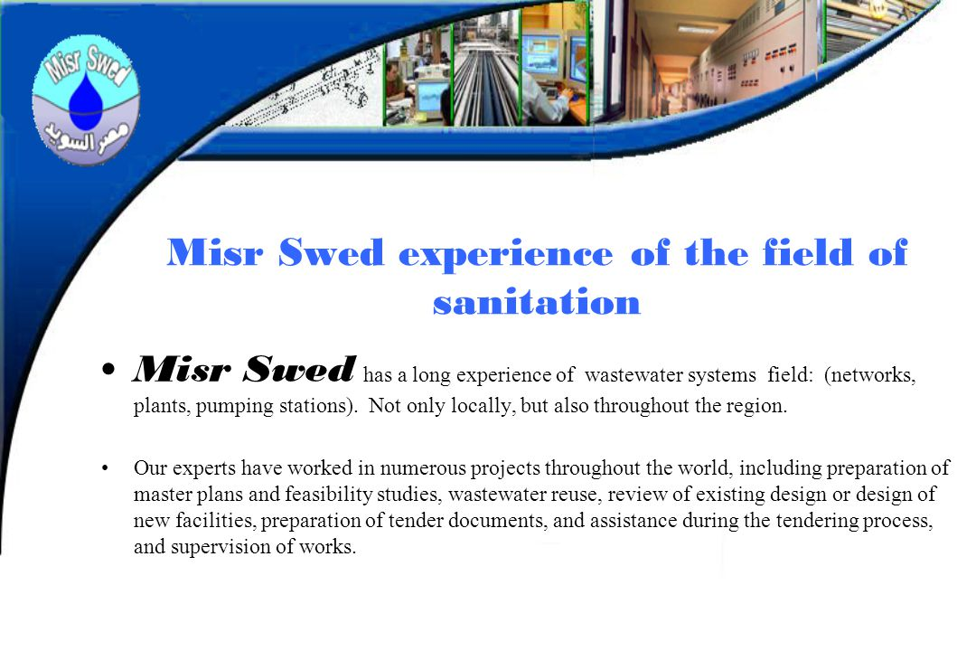 Misr Swed experience of the field of sanitation