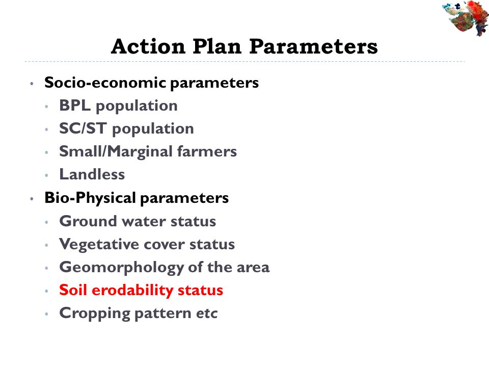 Action Plan Parameters