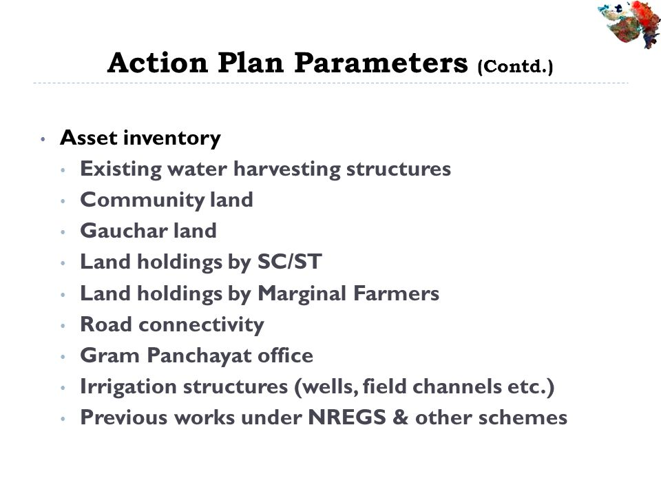 Action Plan Parameters (Contd.)