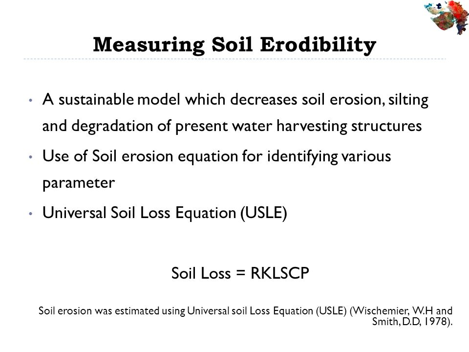 Measuring Soil Erodibility