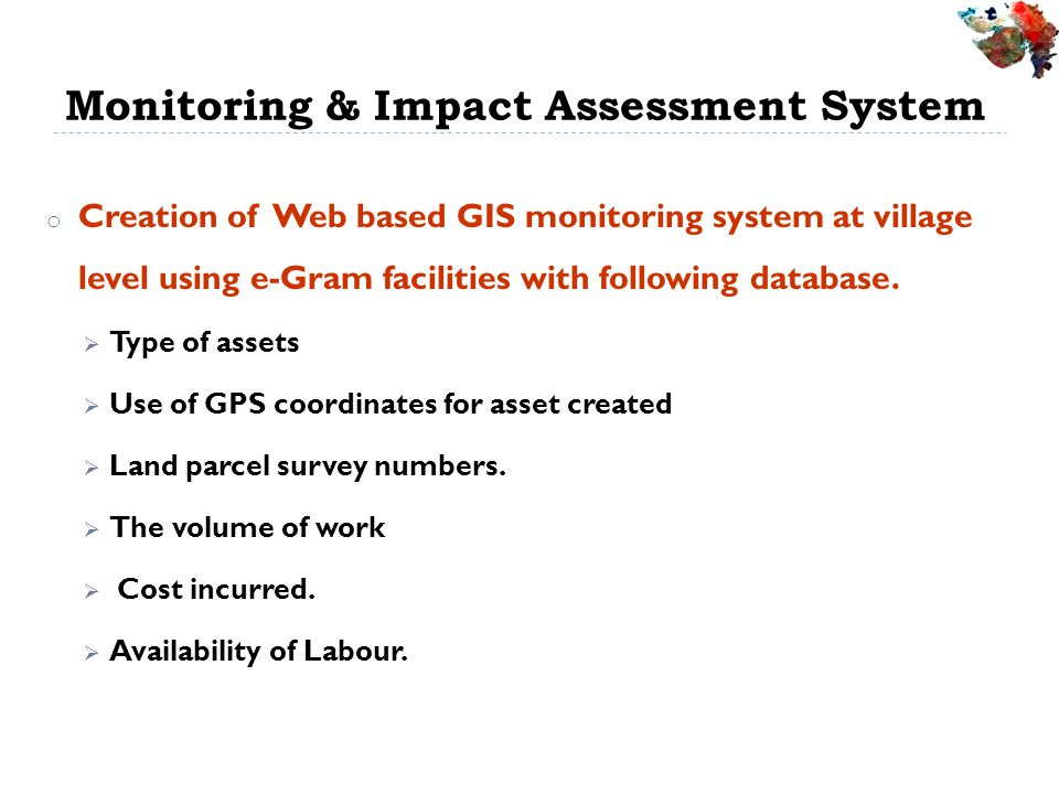 Monitoring & Impact Assessment System