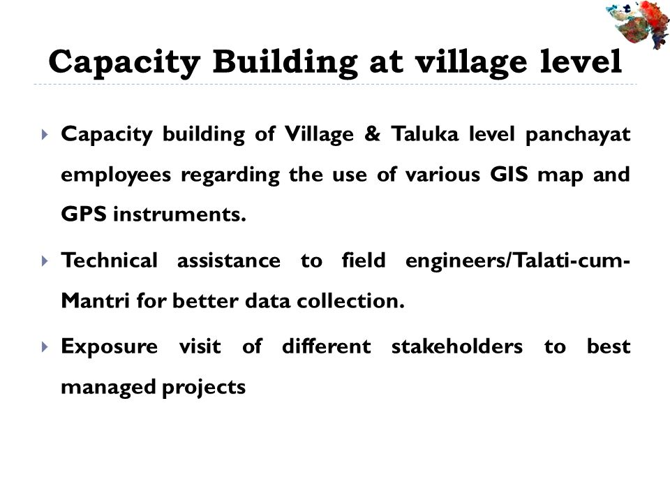 Capacity Building at village level
